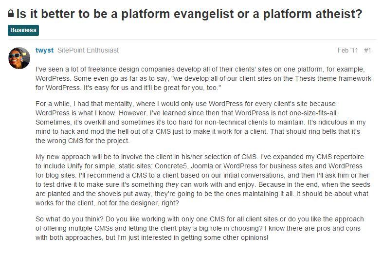 Platform Atheist