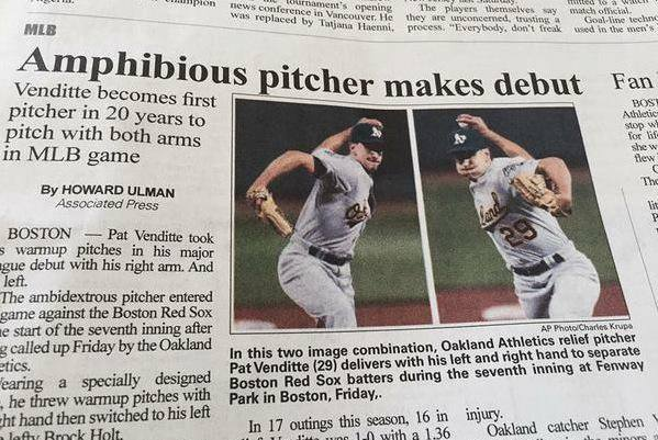 Ambiguous headline makes debut