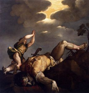 David and Goliath by Titian